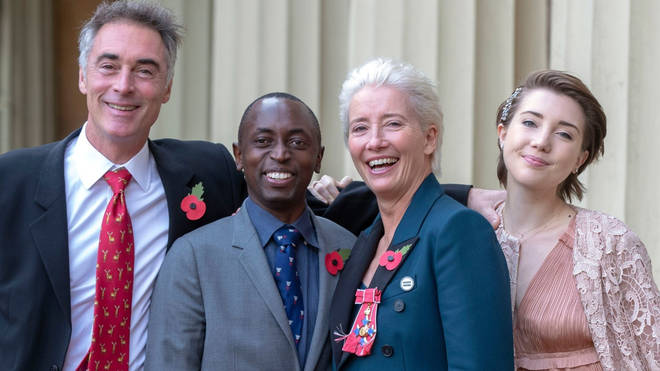 Greg Wise Emma Thompson family with children Tindyebwa Wise and Gaia Wise