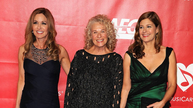 Carole King with daughters Louise and Sherry
