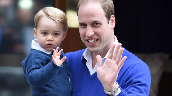 Prince William and his son Prince George