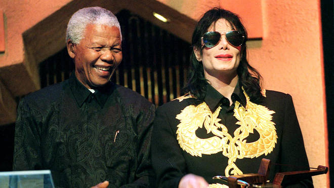 Michael Jackson with Nelson Mandela in 1999
