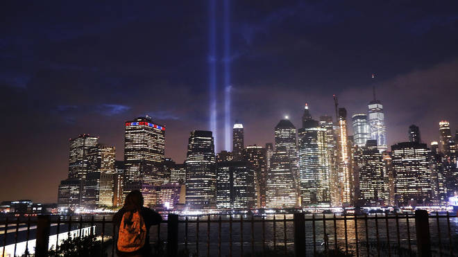 Annual Tribute In Light Marks Anniversary Of Attacks On The World Trade Center's Twin Towers