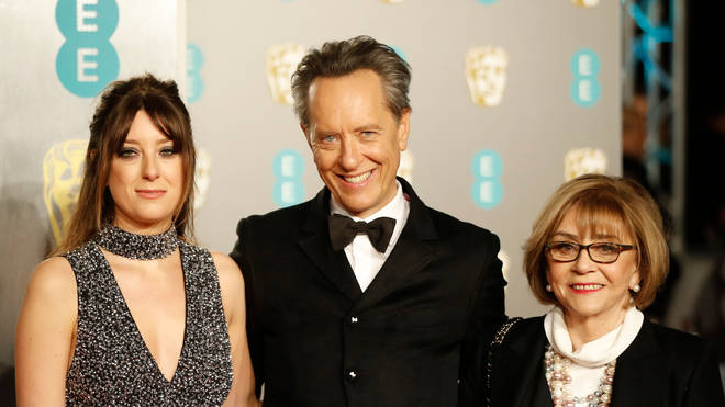 Richard E Grant with daughter Olivia and wife Joan