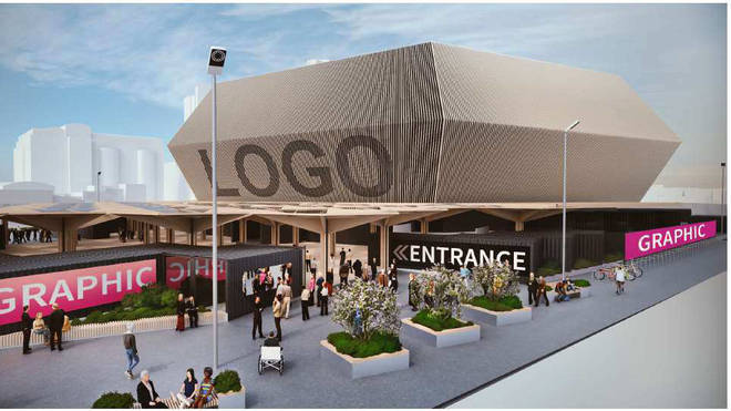 Early designs for the ABBA Arena situated in Queen Elizabeth Olympic Park, East London.
