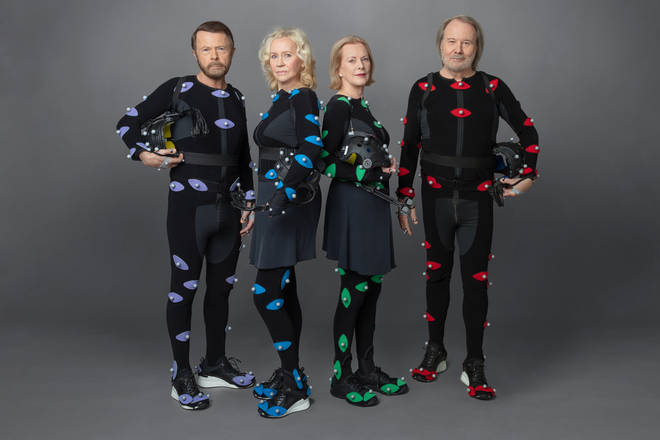 ABBA doing motion capture for the tour