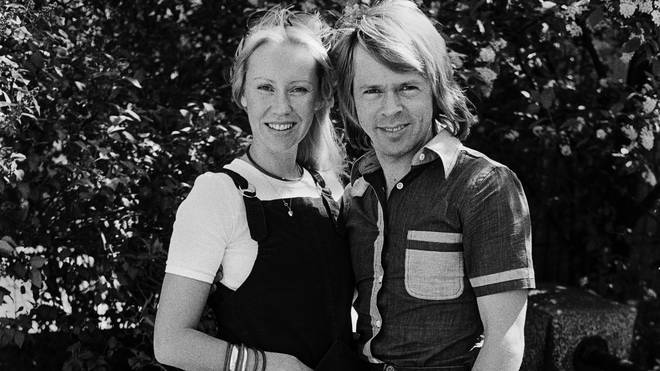 Agnetha and Bjorn in 1977