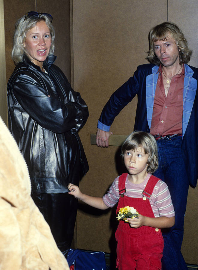 Agnetha and Bjorn with daughter Linda in the late 1970s