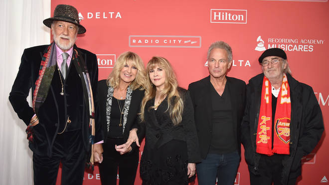 Lindsey Buckingham with Fleetwood Mac at MusiCares Person of the Year, 2018.