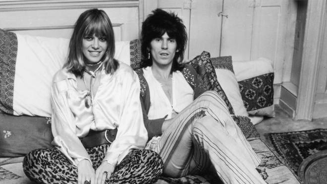 Keith Richards and Anita Pallenberg in 1969. (Photo by McCarthy/Daily Express/Hulton Archive/Getty Images)