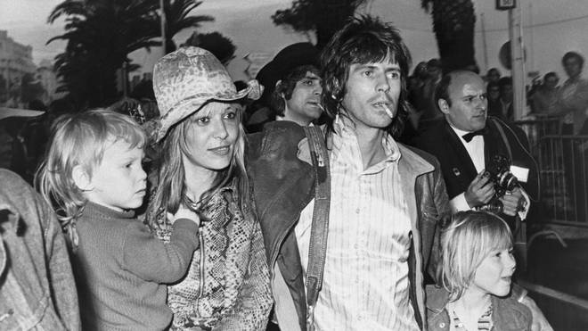 Keith Richards and Anita Pallenberg with their two children Marlon and Dandelion Angela.
