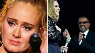 Adele performing 'Fastlove' in tribute to George Michael at the Grammys, and George Michael congratulating Adele for her BRIT Award win in 2012.