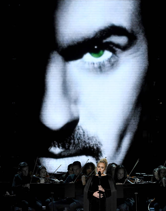 Adele performs haunting tribute to George Michael at The 59th GRAMMY Awards, 2017. (Photo by Kevin Winter/Getty Images for NARAS)