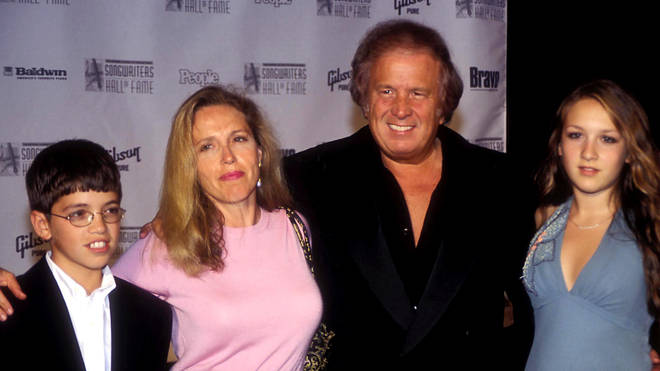 Don McLean with his second wife Patricia, daughter Jackie and son Wyatt in 2004