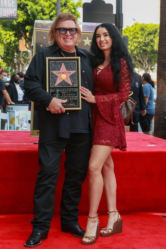 Don McLean with his girlfriend Paris Dunn in 2021