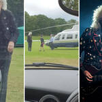 Brian May's private helicopter lands on a cricket pitch mid-game, and Brian May performing live in Milan with Queen + Adam Lambert.
