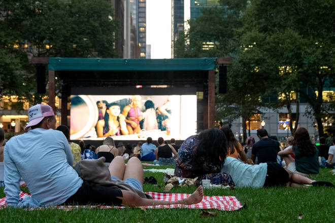 Outdoor cinemas are great way to create discussion at a distance - take a picnic, sit back, and enjoy the movie. (Photo by Alexi Rosenfeld/Getty Images)