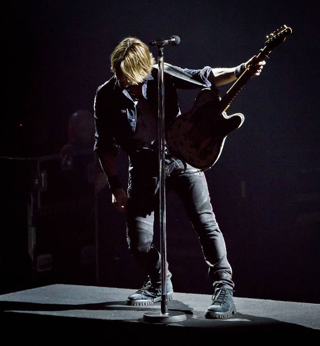 Keith Urban performing at the Country To Country Festival in Berlin, 2019. (Photo by Frank Hoensch/Redferns)