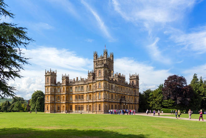Downton Abbey is filmed at Hampshire's Highclere Castle