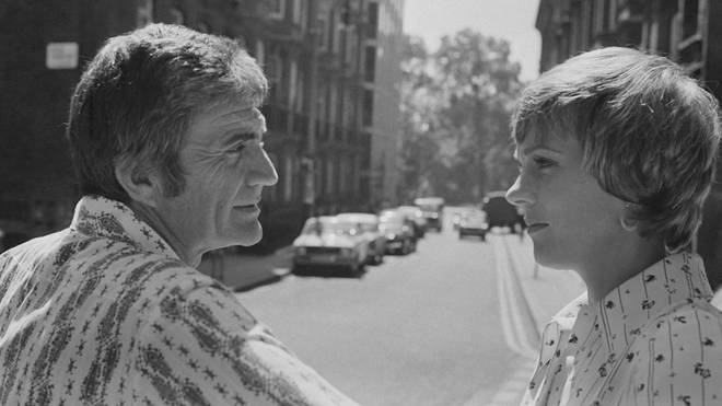 Julie Andrews and husband Blake Edwards in London in 1973