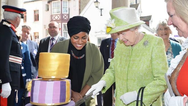 Nadiya Hussain baked The Queen's 90th birthday cake