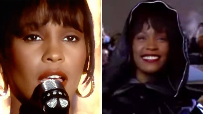 Whitney Houston in The Bodyguard 1992 and singing 'I Will Always Love You'
