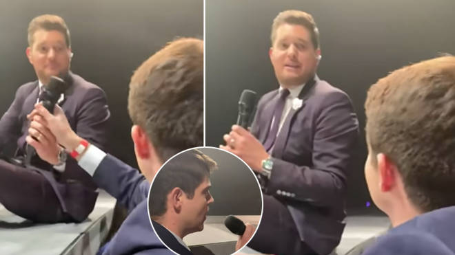 Michael Bublé invited a fan to sing at his concert