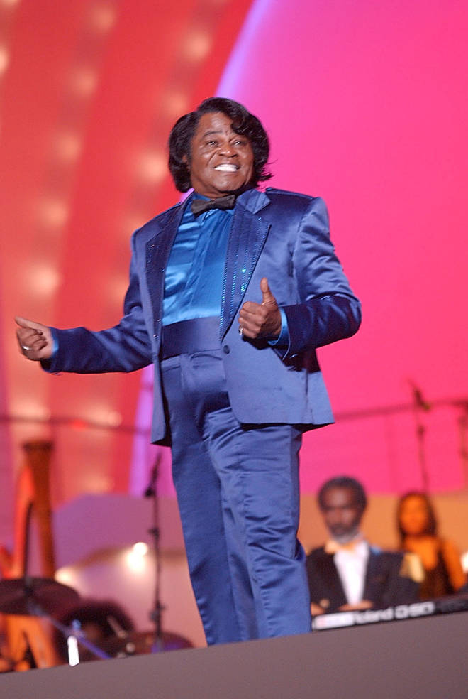 James Brown appeared at Pavarotti's concert