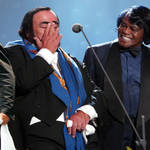 Pavarotti and James Brown performed together in 2002