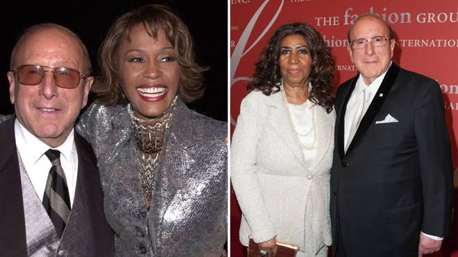 Whitney Houston and Clive Davis / Aretha Franklin and Clive Davis - artists mentored by Clive Davis
