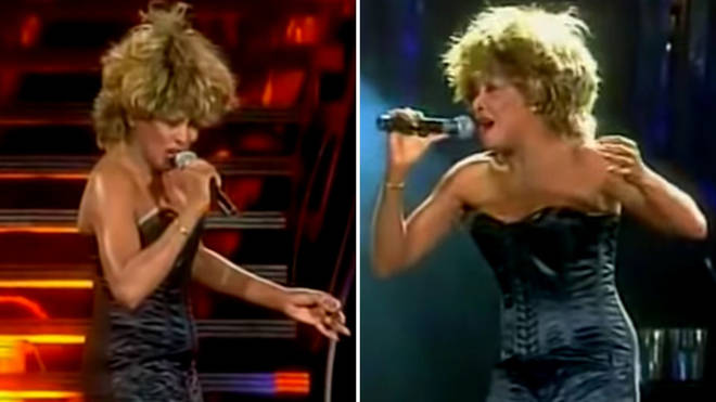 Watch Tina Turner's spectacular live performance of 'Goldeneye' from the James Bond movie