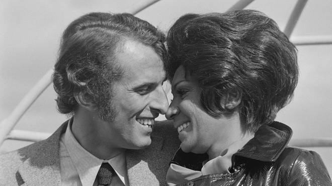 Shirley Bassey with Sergio Novak in 1970. (Photo by Terry Disney/Daily Express/Getty Images)
