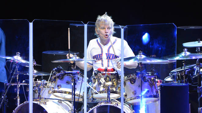 Zak Starkey of The Who performs on the first night of the band's residency at The Colosseum at Caesars Palace on July 29, 2017 in Las Vegas, Nevada. (Photo by Mindy Small/FilmMagic)