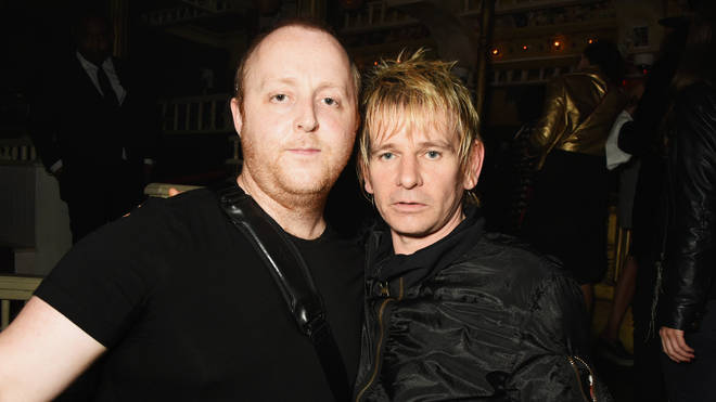 """James McCartney (L) and Zak Starkey attend the launch of """"Issues"""", a new album by SSHH in aid of Teenage Cancer Trust, at The Box on September 5, 2016 in London, England. (Photo by David M. Benett/Dave Benett/Getty Images)"""