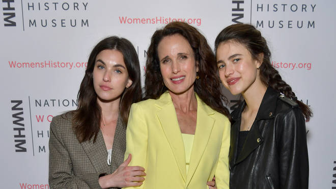 Andie MacDowell with daughters Margaret Qualley and Rainey Qualley