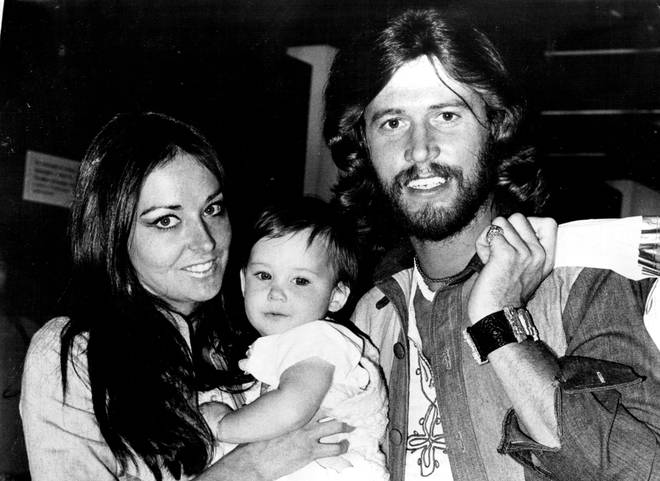 Barry Gibb and Linda with their first child Stephen