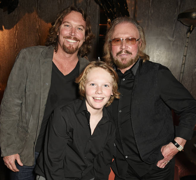 Barry Gibb with son Ashley Gibb and grandson Lucas Gibb