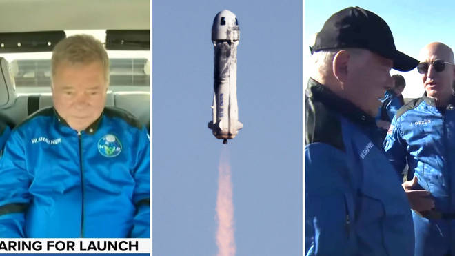 Star Trek star William Shatner was sent into space