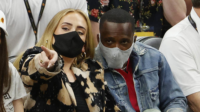Adele and Rich Paul in 2021
