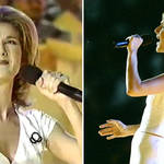 Céline Dion sang through the pain barrier during her Olympic opening ceremony performance.