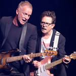 Michael J Fox recreates iconic Back to the Future performance with Sting at charity event