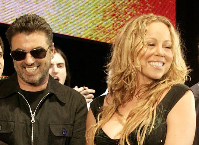 George and Mariah at Live 8 in 2005