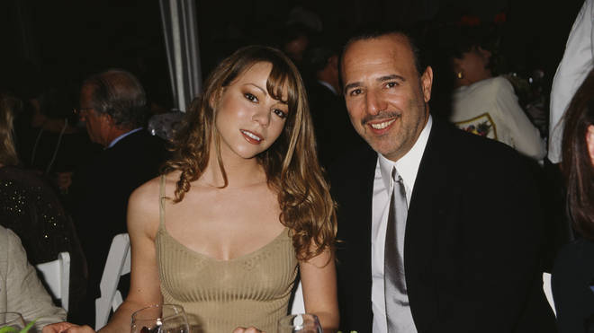 Mariah Carey and Tommy Mottola in 1995