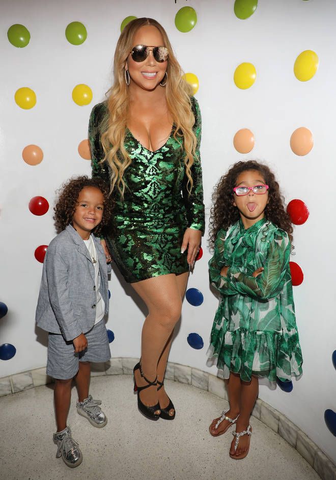 Mariah Carey and her two kids in 2017