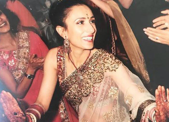 Anita at her traditional Indian wedding in 2010