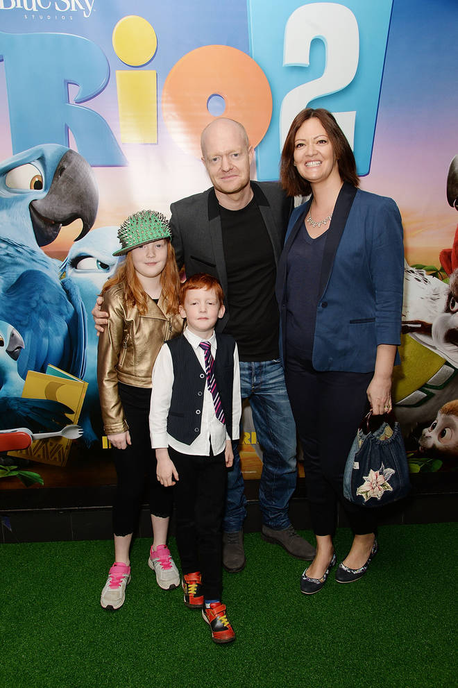 Jake Wood and his family in 2014