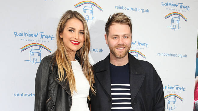 Brian McFadden and Vogue Williams in 2014