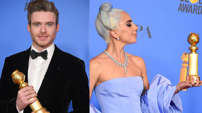 Richard Madden and Lady Gaga at the Golden Globes
