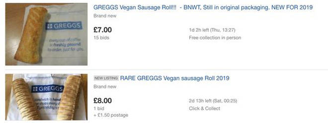 Greggs vegan sausage rolls are going for more than 7x what they're worth on eBay