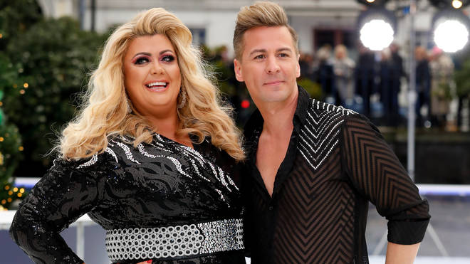 Dancing on Ice couple Gemma Collins and Matt Evers