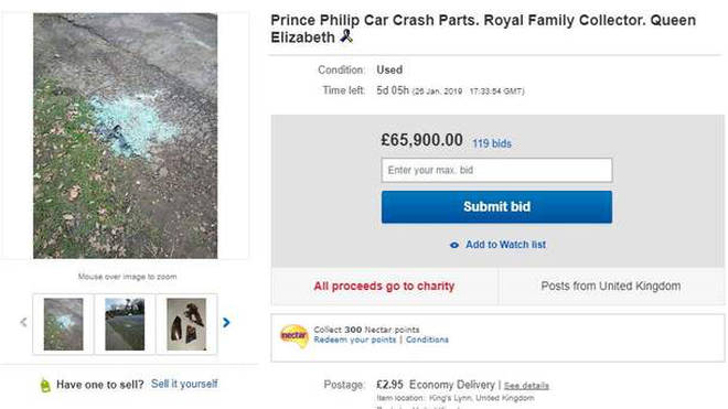 Prince Philip crash ebay