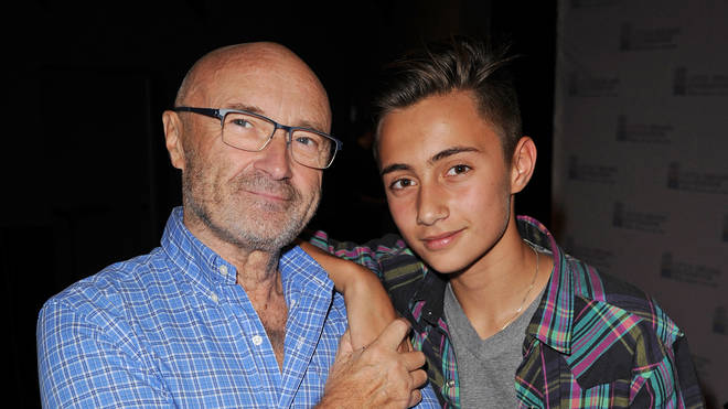 Phil Collins and his son Nicholas
